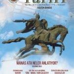 Türk Dünyası Tarih Kültür Dergisi – Eylül 2017